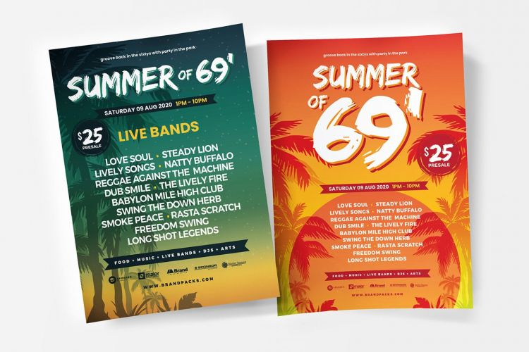 Free Summer Party Flyer Templates (PSD)