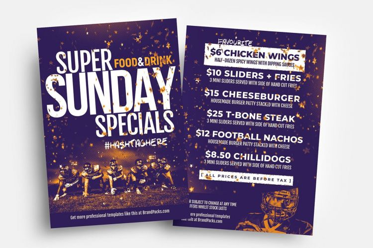 Free Super Sunday PSD Flyer Template