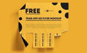 Free Tear-Off Ad Mockup