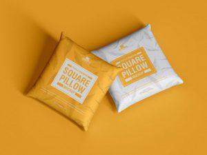 Free Textile Square Pillow Mockup