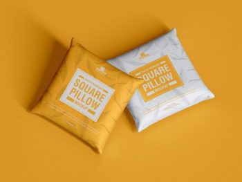 Free Textile Square Pillow Mockup