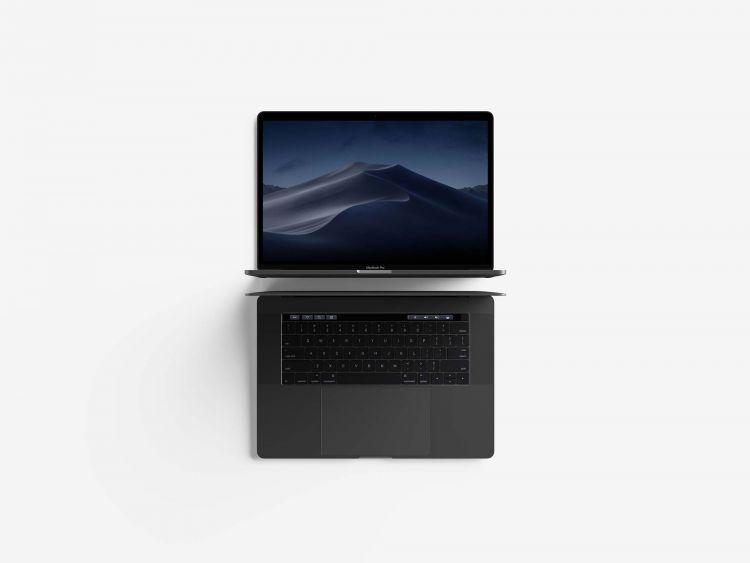 Free Top View Macbook Mockup (PSD)