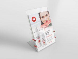 Free Transparent A5 Leaflet Holder Mockup (PSD)