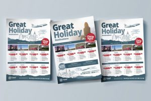 Free Travel Agency PSD Flyer Template