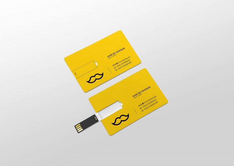 Free USB Card Mockup (PSD)