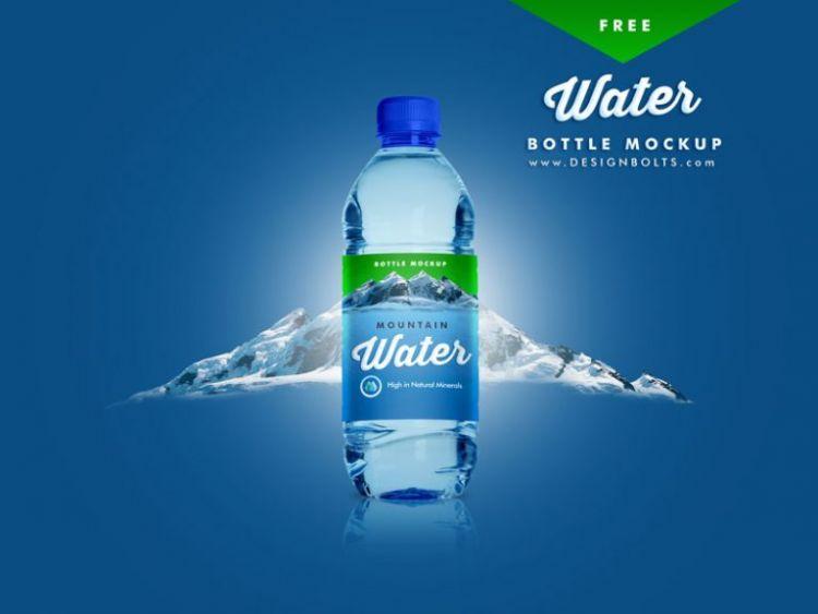 Free Water Bottle Mockup (PSD)