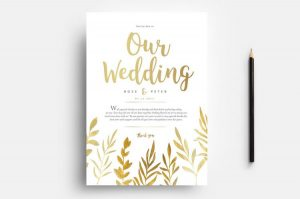 Free Watercolor Wedding PSD Flyer Template