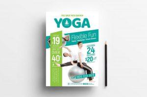Free Yoga PSD Flyer Templates