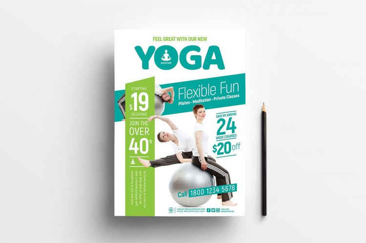 Free Yoga PSD Flyer Templates