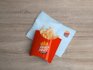 French Fries Packaging Free Mockup (PSD)