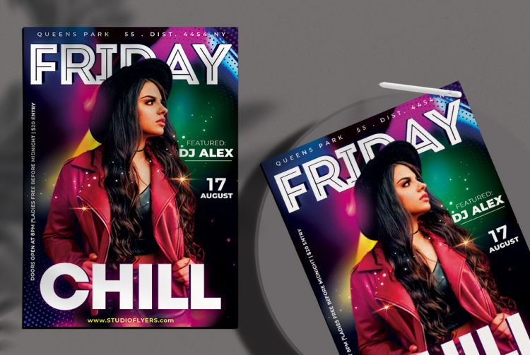 Friday Free Party Flyer Template (PSD)