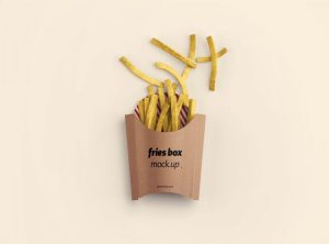 Fries Box Packaging Free Mockup