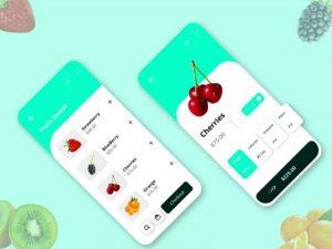 Fruits Ordering App UI Kit Free (XD)