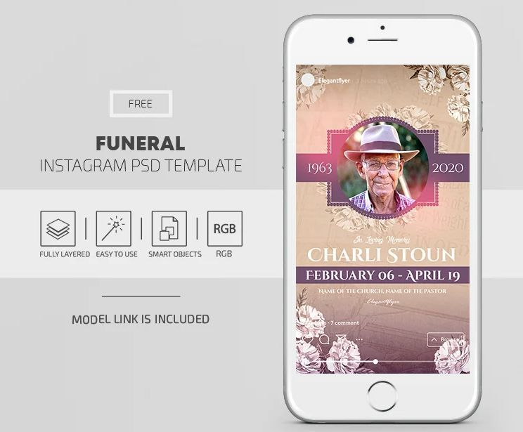 Funeral Free Instagram Templates (PSD)