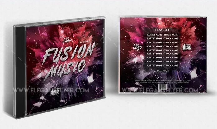 Fusion Song Free CD/Mixtape Cover Template (PSD)