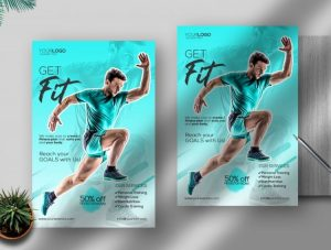 Get Fit – Free Sport Flyer Template (PSD)