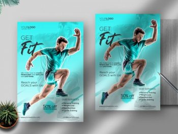 Get Fit - Free Sport Flyer Template (PSD)