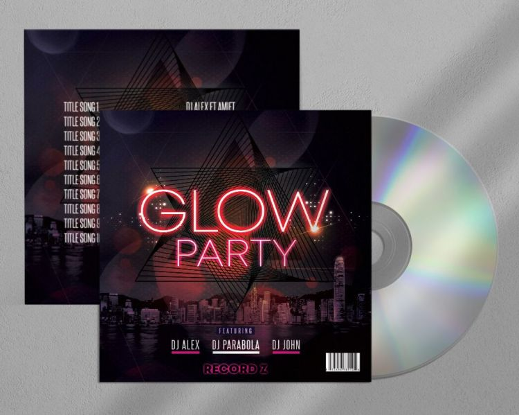 Glow Mix - Free CD/Mixtape Cover Template (PSD)