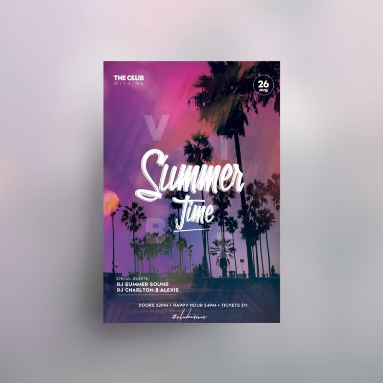 Go Beach Free Summer Flyer Template (PSD)