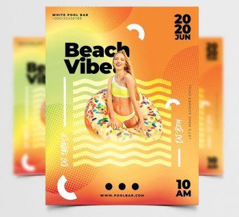 Go Beach Vibe Free Flyer Template (PSD)