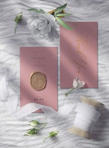 Greeting card with Flower Ribbon Free Mockup