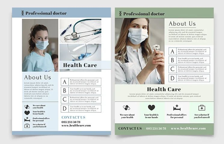Health Care Ad Free Flyer Template (PSD)