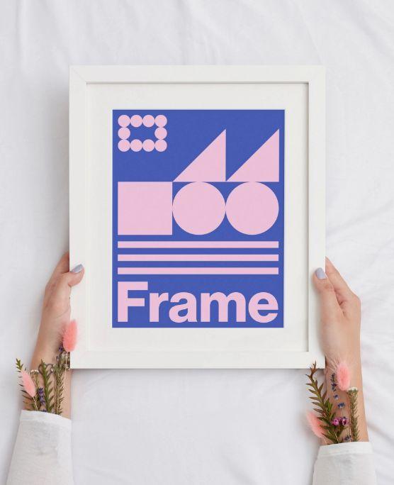 Holding Frame Poster Free Mockup