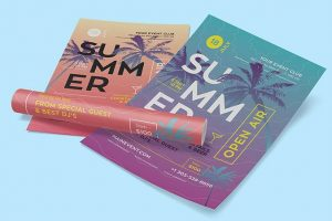 Hot Summer Party Free Flyer Template