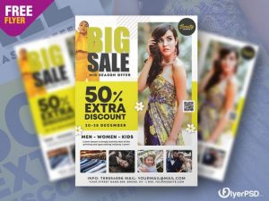 Huge Sale Free Flyer Template (PSD)