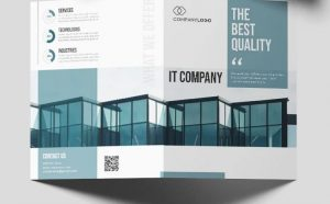 IT Business Free Bi-Fold PSD Brochure