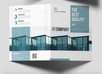 IT Business Free Bi-Fold PSD Brochure