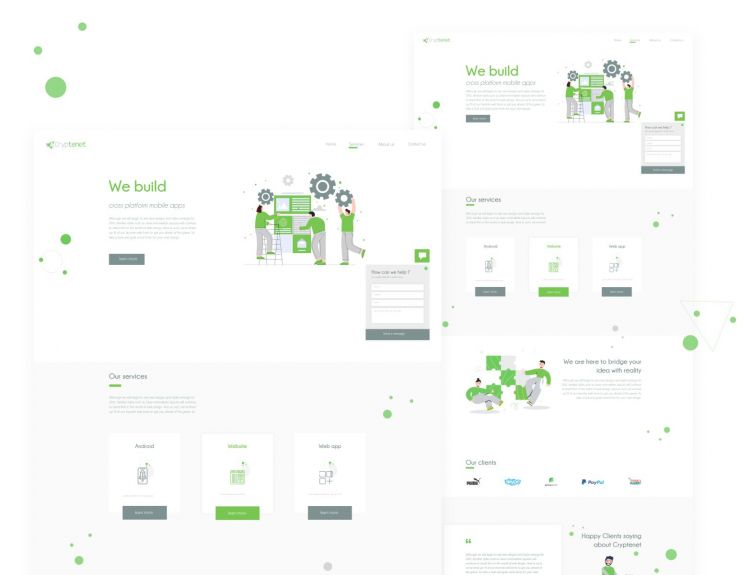 IT Company Website Free XD Template