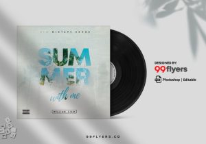 In Summer Free Mixtape CD Cover Template (PSD)