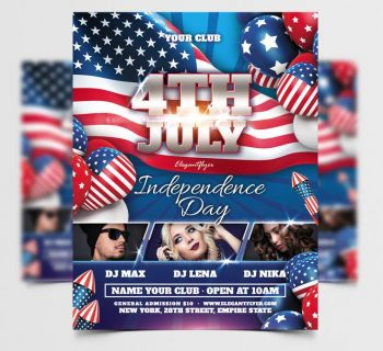 Independence Day Free Flyer Template (PSD)