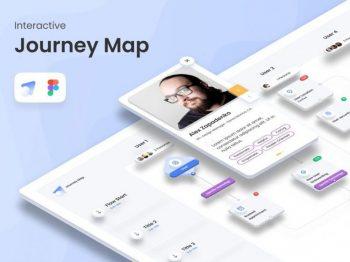Interactive Journey Map Free UI Figma