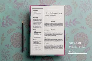 Joy Free Resume PSD Template