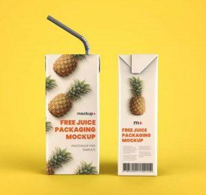 Juice Carton Packaging Box Free Mockup