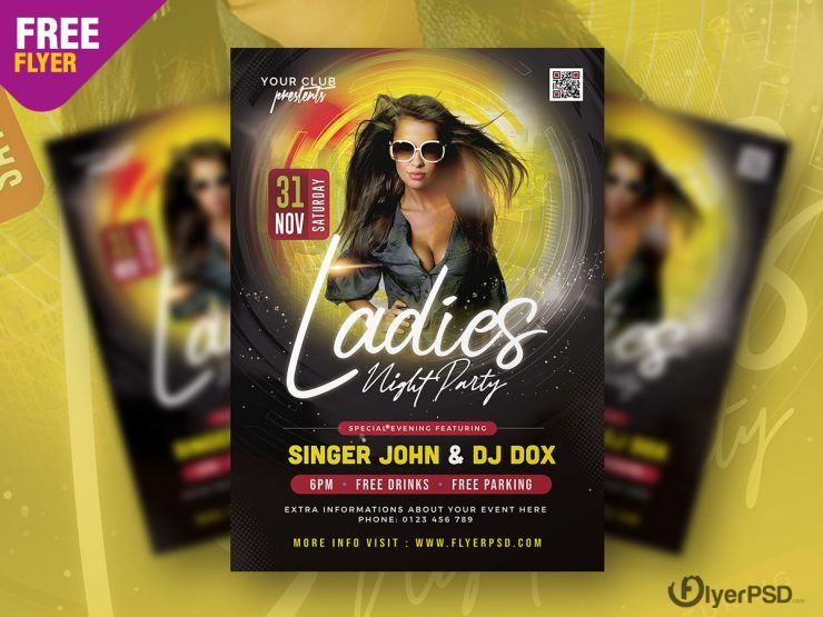 Ladies Party Free Flyer Template (PSD)