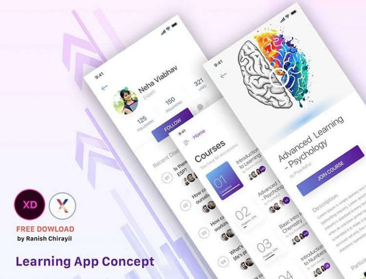 Learning App Design Concept Free UI