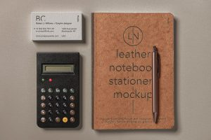 Leather Cover Notebook Free Mockup