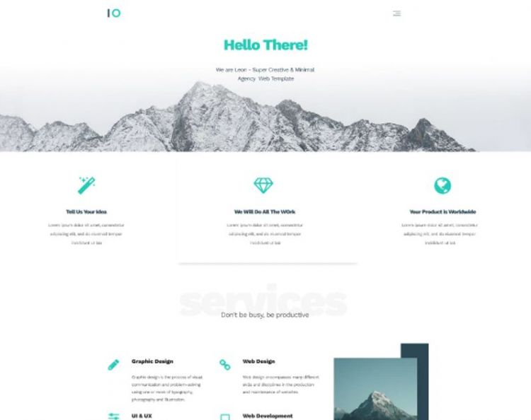 Leon - PSD Agency Web Template (Free)