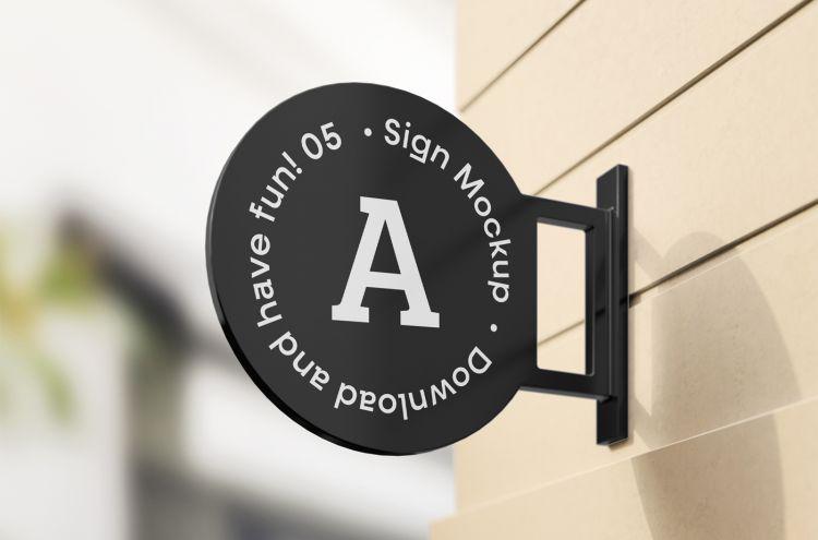 Logo Sign Free Mockup