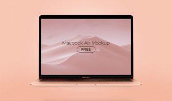 MacBook Air All Colors Free Mockup Set