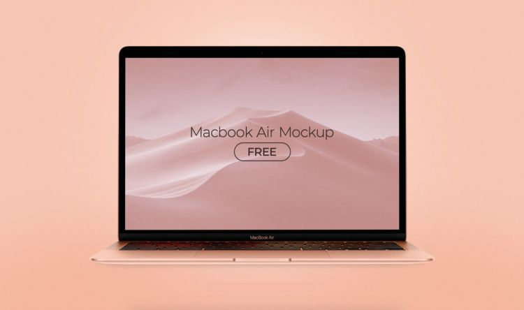 MacBook Air All Colors Free Mockup Set