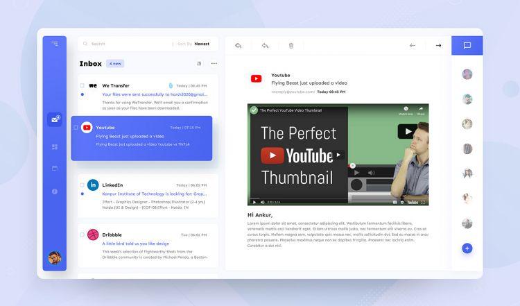 Mailbox Design - Free UI Kit Concept XD