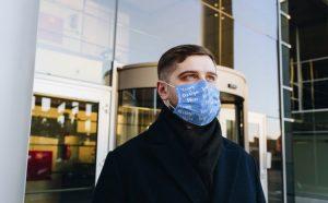 Man Wearing a Face Mask Free Mockup