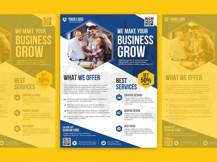 Marketing Agency Free Flyer Template (PSD)