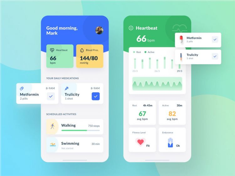 Medical App Design Free in Figma