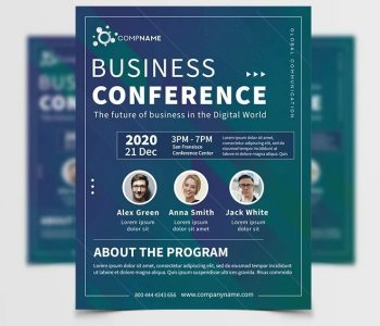 Meet UP Conference Free Flyer Template (PSD)
