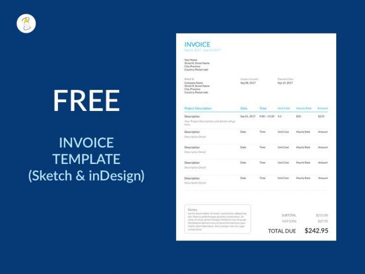 Minimal Invoice (vol2) Free Template